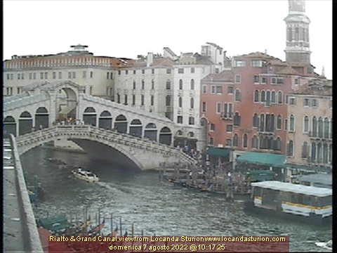 Rialto bridge and Grand Canal view from Locanda Sturion